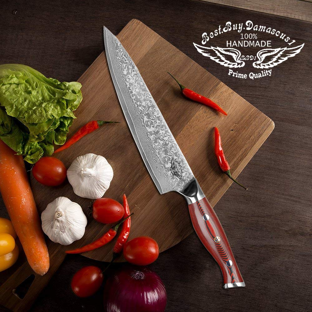 Best Quality Super Steel High Carbon Stainless Steel, Incredible G10 Handle, Full-tang, Razor Sharp Chef Blade Kitchen Carving fillet chefs knives Chef Knife – 8 Inch