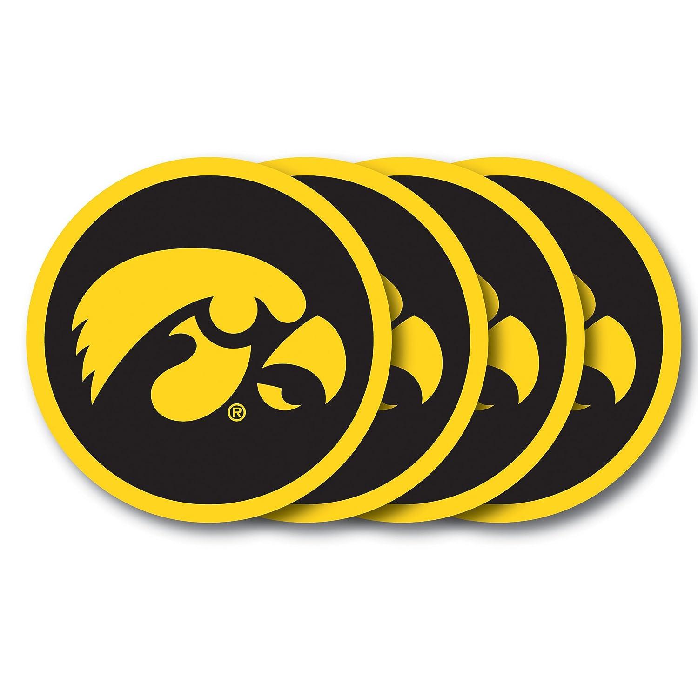 Pack of 4 NCAA Iowa Hawkeyes Vinyl Coaster Set