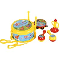 Juguetes para Niños y Niñas Juguetes Musicales para Niños Conjunto de Instrumentos de Tambor y Percusión para Bebé y Primera Infancia para Cultivar la Habilidad Musical de los Niños (7PCS)