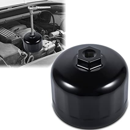 Sunluway Fits for BMW & VOLVO Oil Filter Wrench 86mm Cartridge Style Filter  Housing Caps with 16 Flutes