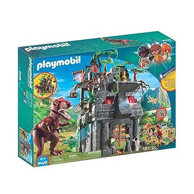 PLAYMOBIL Hidden Temple with T-Rex Building Set: Toys & Games