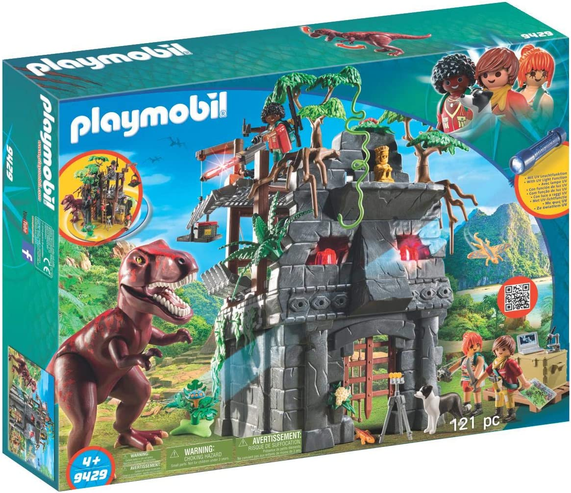 Playmobil 9 Hidden Temple with T-Rex Building Set