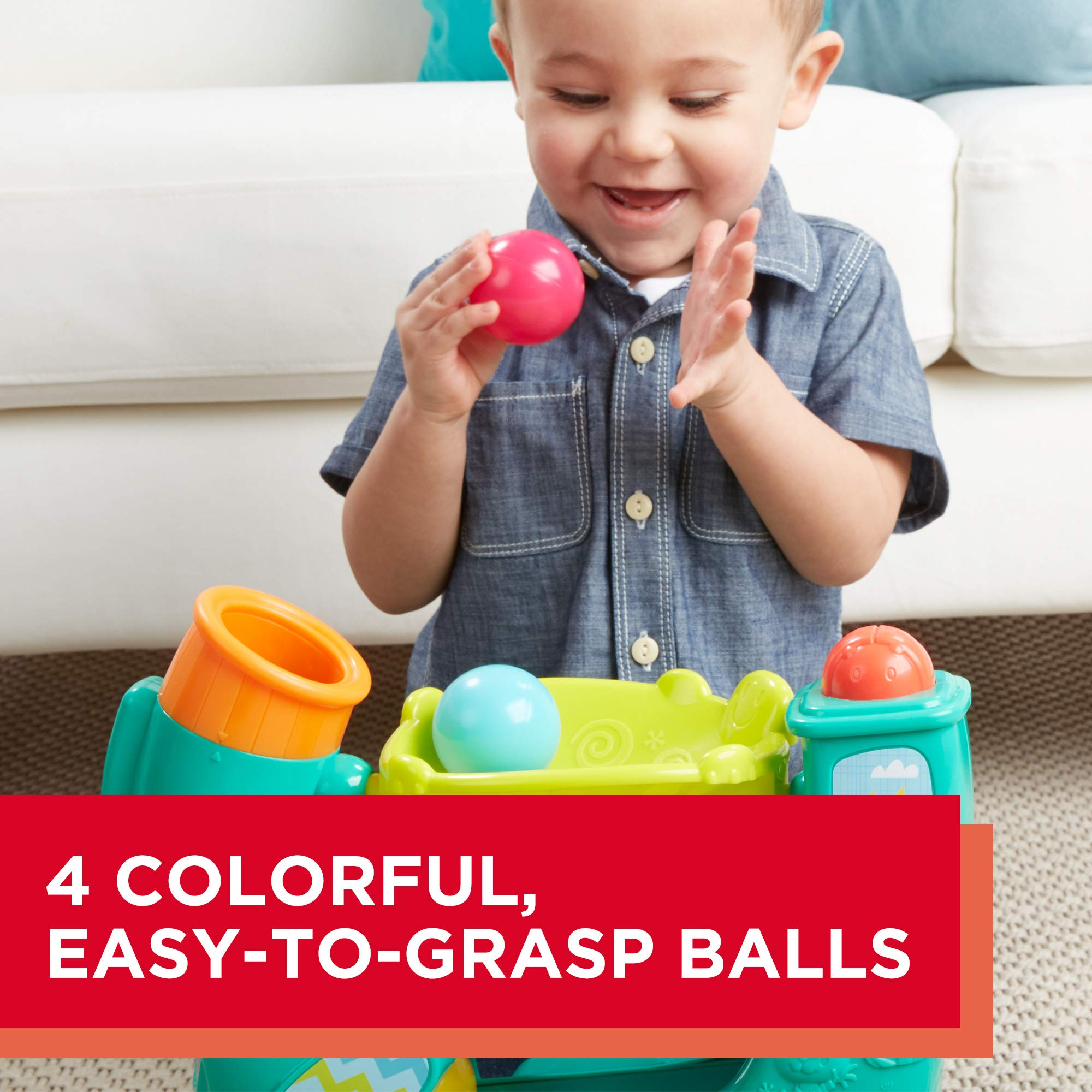 Playskool Chase n Go Ball Popper (Teal), Ages 9 Months and up by Playskool (Image #5)