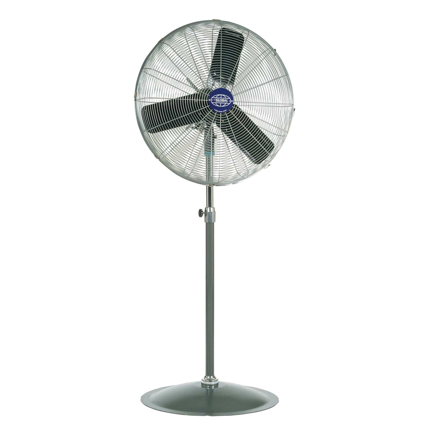 Oscillating Pedestal Fan, 30 Diameter, 1 3hp, 8775cfm
