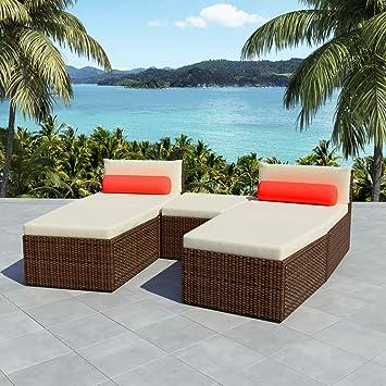 WEILANDEAL Set de Sofas de Jardin modulares 14 Piezas Poli ...