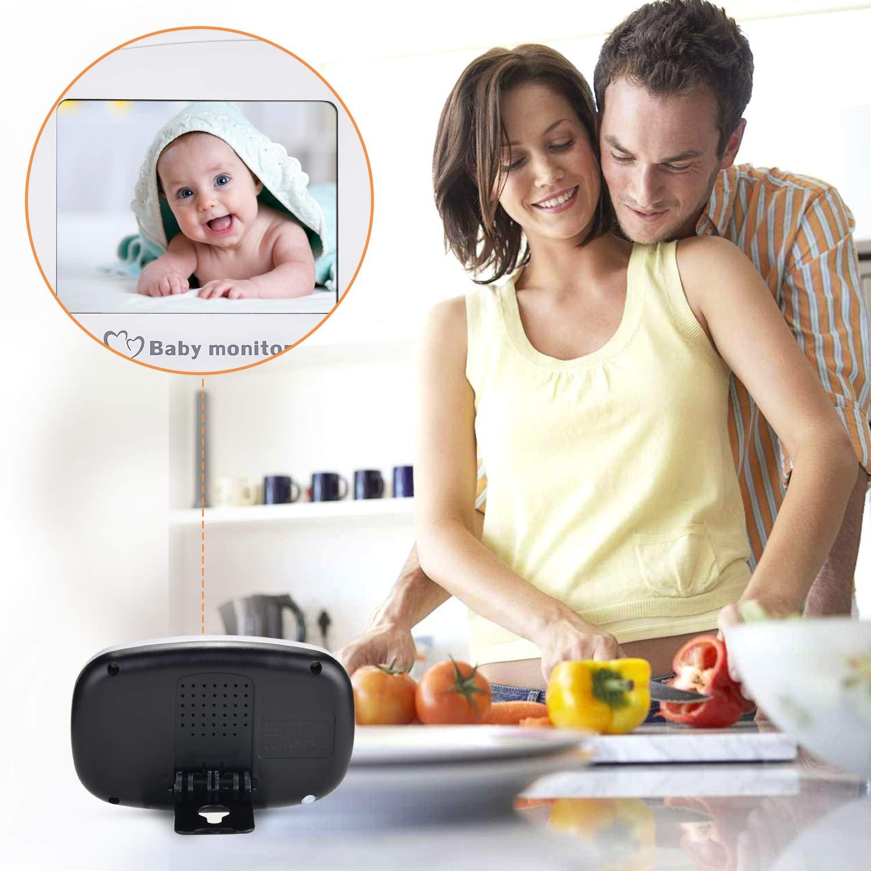 2 Wege Talkback Audio Stabiles Signal und Wiegenlied Schnullersystem MYPIN Video Babyphone mit Nachtsichtkamera ohne Strahlung Baby Monitor mit 2,4Zoll Farb LCD