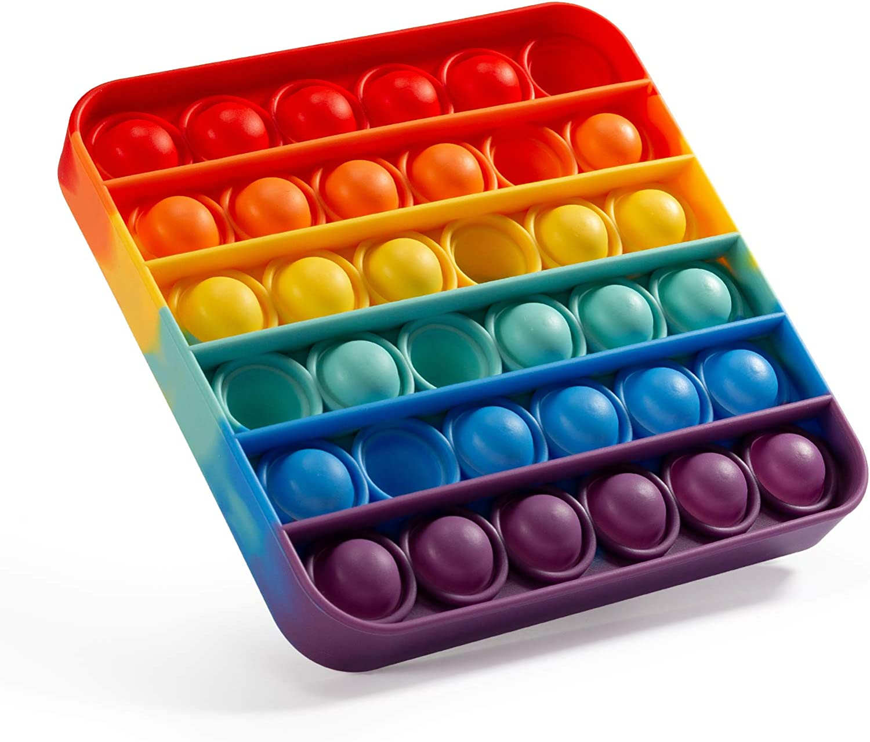 Square Rainbow Pop It