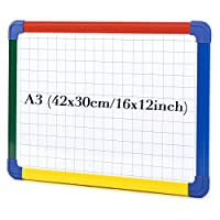 SwanSea Magnetic Boards Dry Wipe Whiteboard Combination Planning Board with Colorful Frame, 40 x30cm