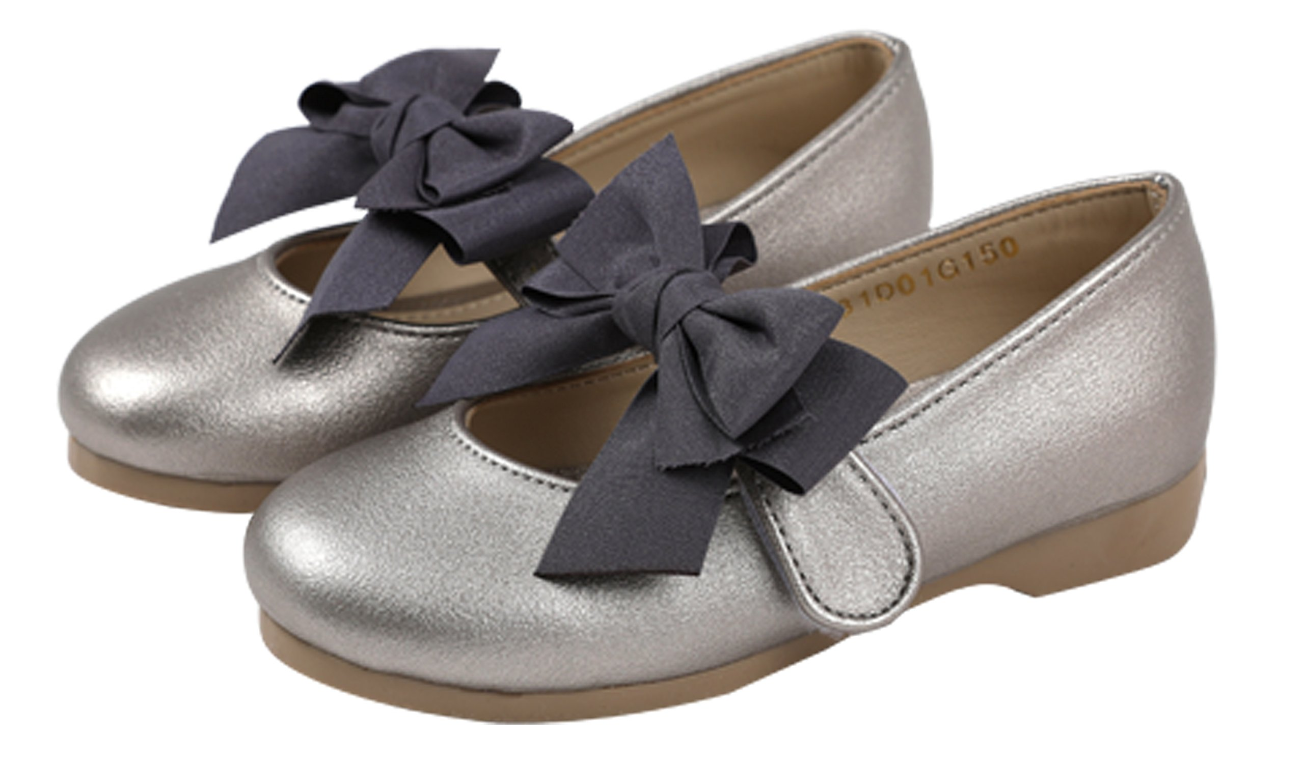 Ozkiz Little Girls Ballet Flats Princess Wedding Party School Mary Janes Shoes With Ribbon Gy 13M