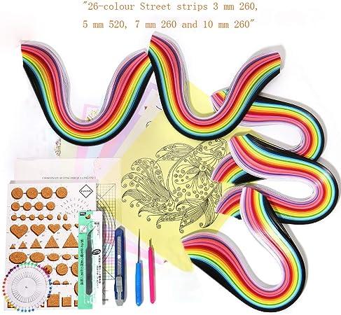 TUPARKA 900 tiras de papel de filigrana Juego de 19 piezas de papel para filigranas de 45 colores manualidades