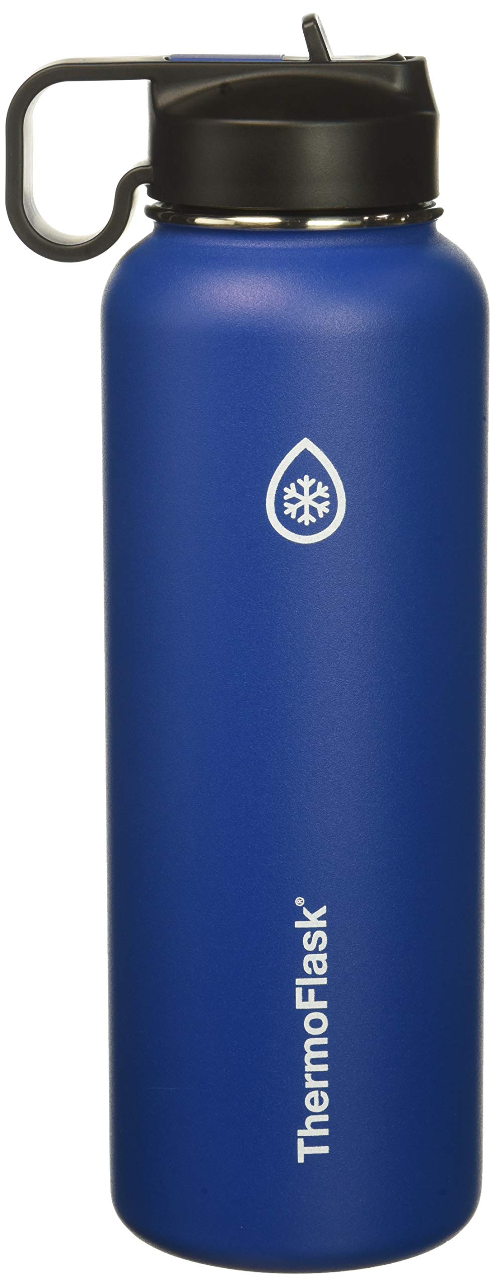 Thermoflask 50064 Bottle with Chug and Straw Lid, 40oz, Cobalt