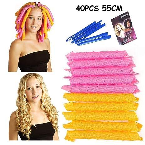 Variété mágico sin calor Ne Blesse pas les secador de cabello manual, rollo de cabello