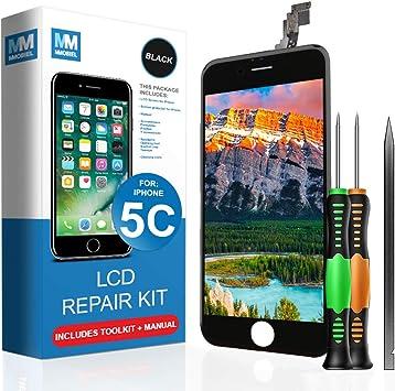 MMOBIEL Pantalla táctil LCD Compatible con iPhone 5C (Negro) Kit ...