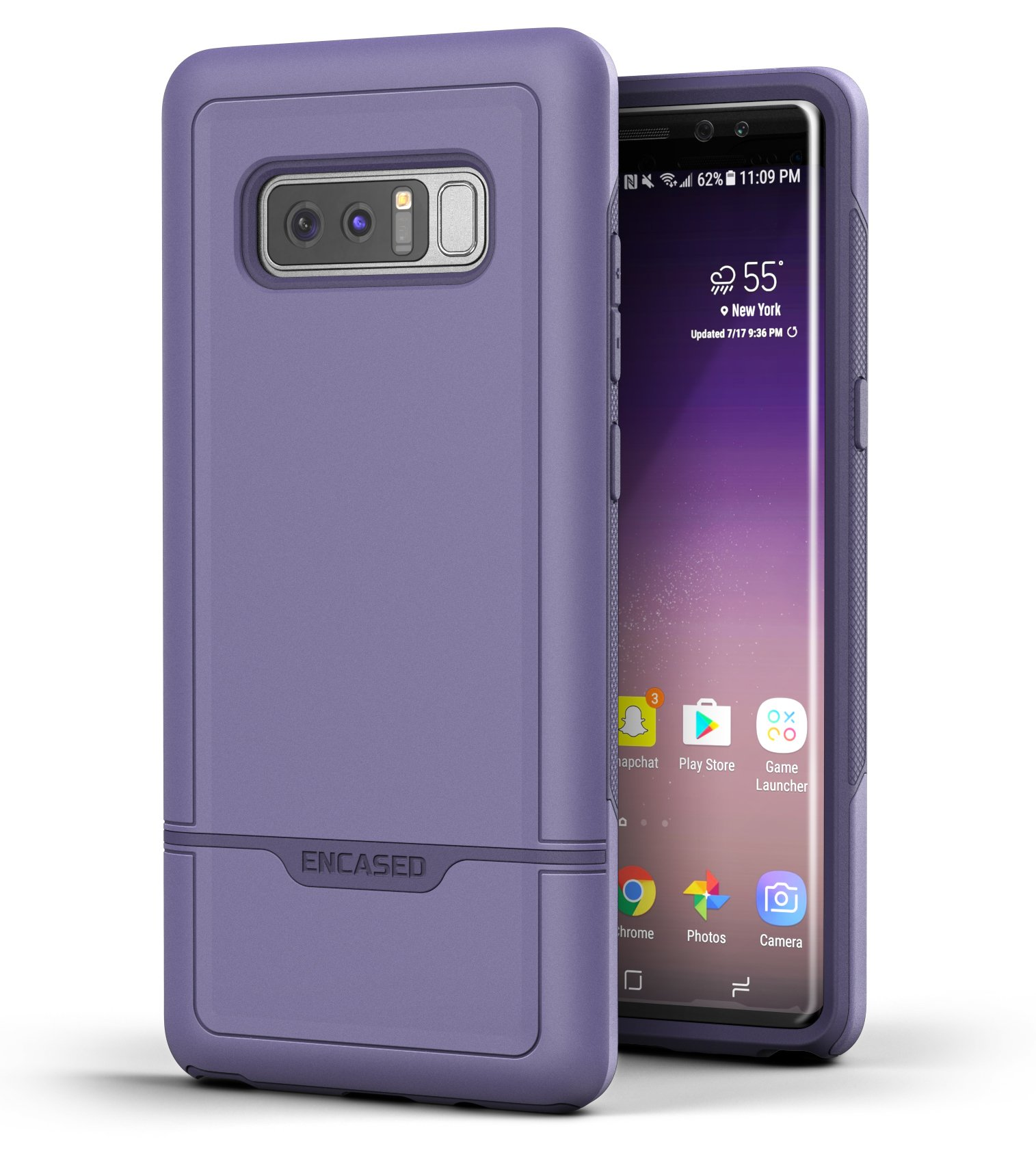 Encased Galaxy Note 8 Tough Case, Purple Rebel Armor Case for Samsung Galaxy Note 8 (Military Grade Protection) by Encased