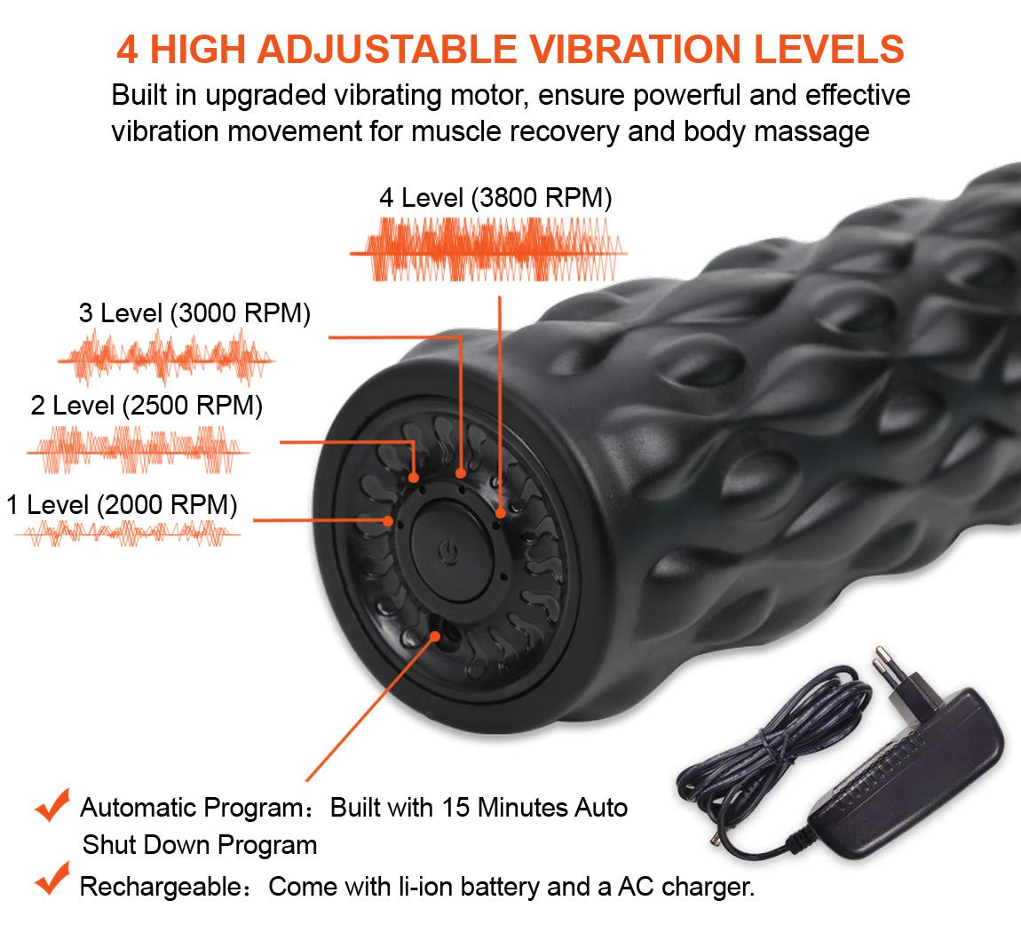 iDeer Vibration Platform Fitness Vibration Plates,Whole Body Vibration Exercise Machine w/Remote Control &Bands,Anti-Slip Fit Massage Workout Trainer Max User Weight 330lbs (Black AUS09017) by IDEER LIFE (Image #3)