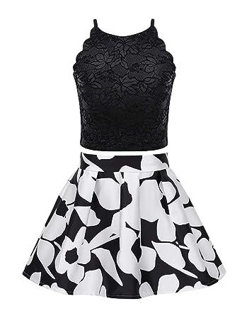MSemis Vestido Vintage Conjunto Verano para Niñas Camisa Top de ...
