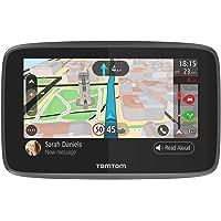 TomTom GO 5200 (5 Pouces) - GPS Auto - Cartographie Monde, Trafic, Zones de Danger à Vie (via Carte SIM Incluse) et Appel Mains-Libres