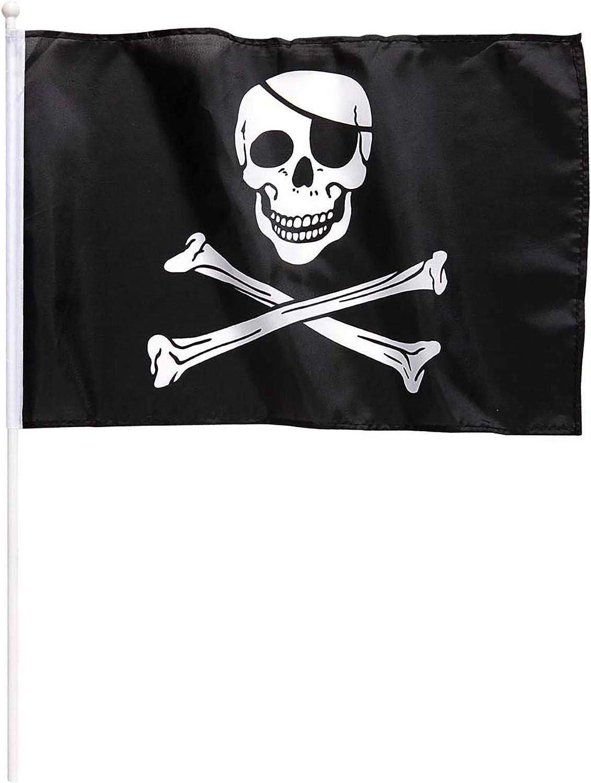 Widmann ? Bandera Pirata con asta - Medidas 43 x 30 cm: Amazon.es: Juguetes y juegos