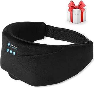 Sleep Headphones, 2020 Wireless 5.0 Bluetooth Eye Mask Music Sleep Mask Noise Canceling Bluetooth Headphones, HD Stereo Sound, Travel Music Play Built-in Speakers Microphone Handsfree