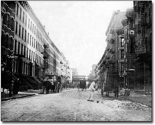 NEW YORK CITY HARLEM 107 ST 3RD AVE 1912 8x10 SILVER HALIDE PHOTO PRINT