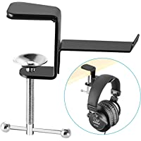 Neewer Black Table Desk Headphone Holder with 4.5 Centimeters Maximum Clamp Opening Size, Convenient Indeformable Metallic Headphone Desk Hanger Holder for Table Desk and Other Flat Surfaces