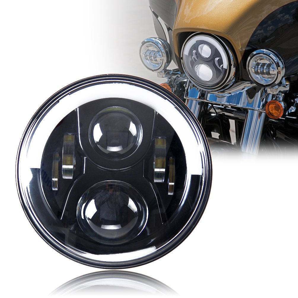 "Amazon.com: Harley Headlight, Daymaker led light, 7"" Motorcycle Light for Road  King, Road Glide, Street Glide and Electra Glide,Ultra Limited: Automotive"