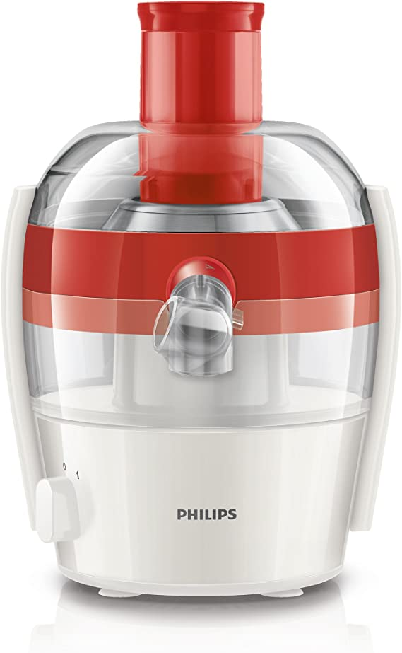 Philips HR1832/40 - Exprimidor eléctrico, 400 W, color rojo y ...