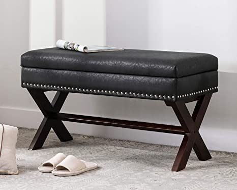Amazon.com: chairus PU Leather Storage Entryway Bench, Faux