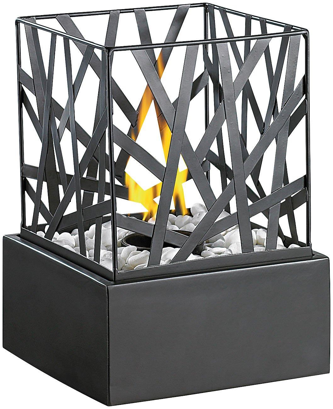 Carlo Milano Tischkamin: Tisch-Dekofeuer Feng Shui mit Steingarten (Bio Ethanol Feuerschalen)