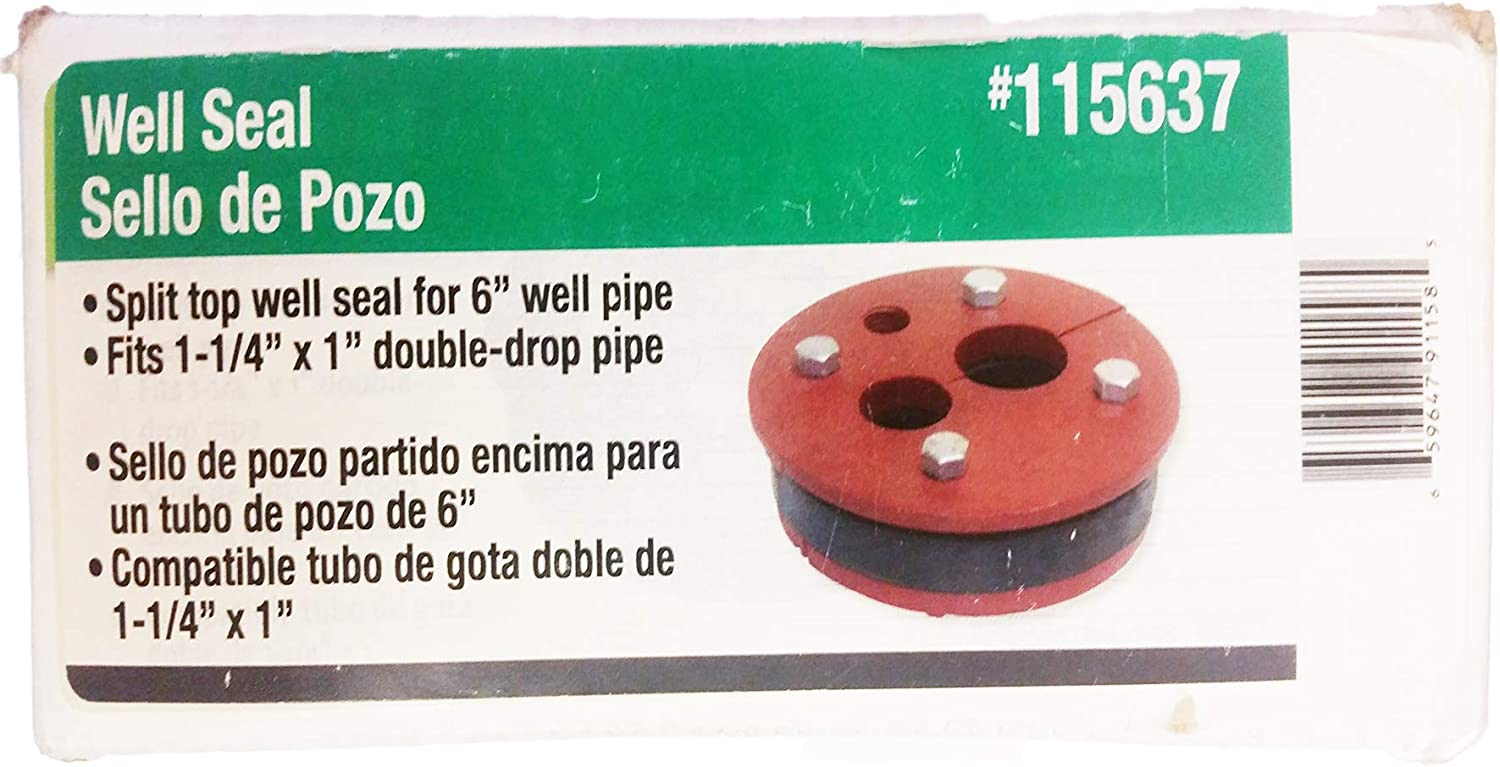 """PROPLUMBER WELL SEAL FOR 6/"""" PIPE FITS 1-1//4/"""" X 1/"""" DOUBLE-DROP PIPE 115637"""