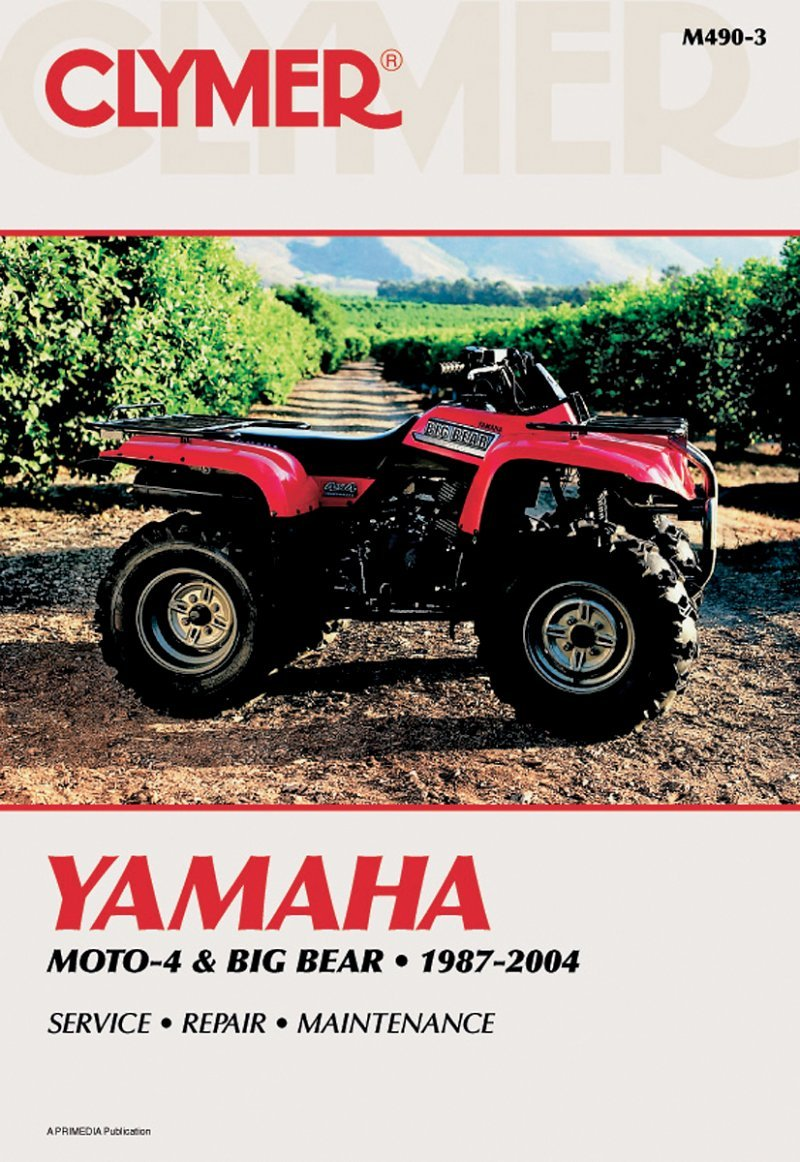 Amazon.com: Clymer Repair Manual for Yamaha ATV YFM350 YFM400 87-04:  Automotive