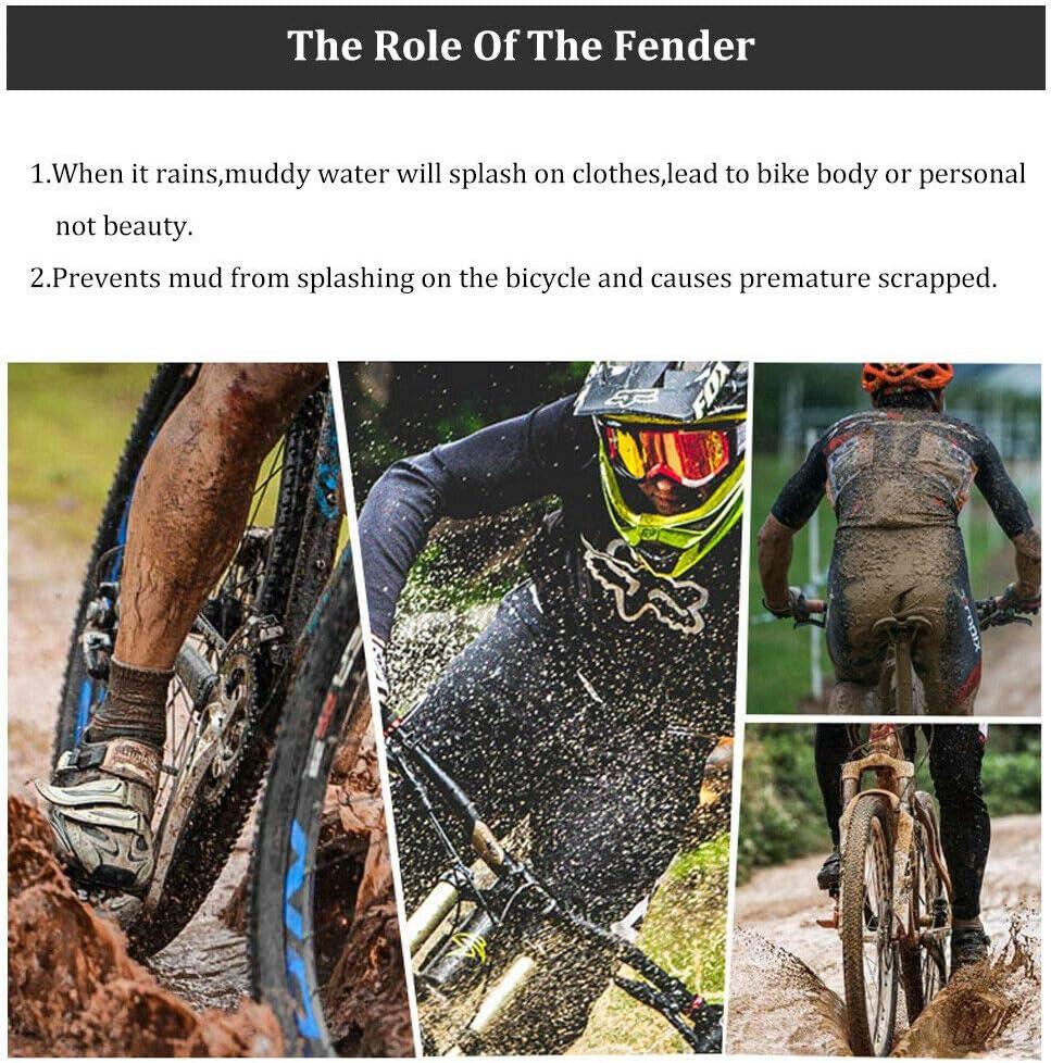 300*275mm Reflective Fender Road//MTB Bike Cycling Parts Front/&Rear Mud Flap Set