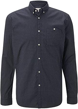 TOM TAILOR Denim Allover Print Stretch Camiseta, 23977/Navy Twisted Element, XL para Hombre