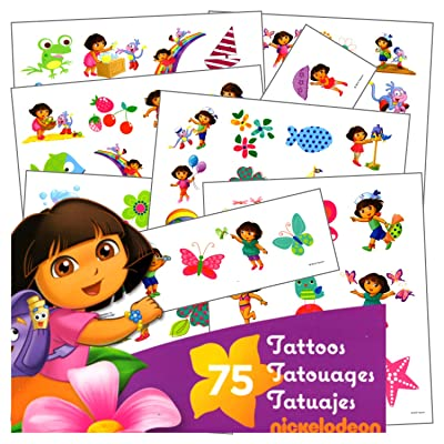 Dora Tattoos - 75 Assorted Dora Temporary Tattoos: Toys & Games