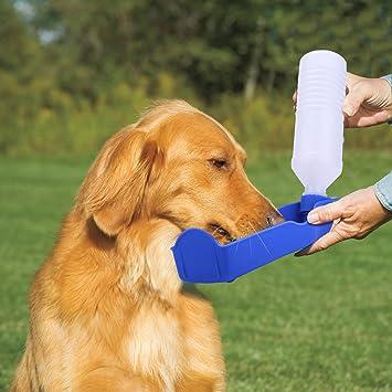 Pecute® Portátil mascota perro gato viaje agua dispensador de botella de bebida cuenco alimentador plástico
