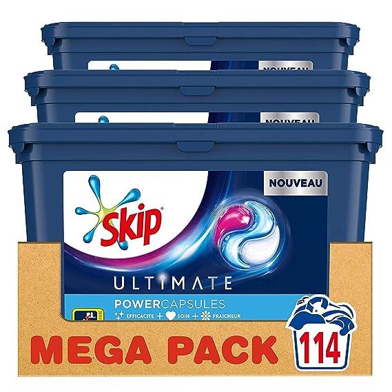 Skip lavandería Cápsulas Trio Ultimate Active Clean 38 ...