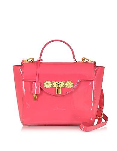 Versace Designer Handbags Strawberry Patent Leather Small Signature Lock  Satchel 0268501003a1d