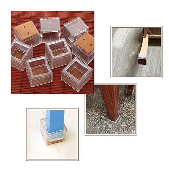 Chair Leg Pads. Amazon.com: Besokuse Chair Leg Feet Wood Floor Protectors,