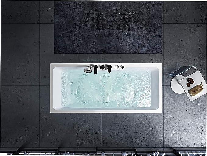 Bañera exenta de acrílico con grifo (150 cm, 160 cm, 170 cm, 180 cm): Amazon.es: Bricolaje y herramientas