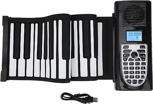 RiToEasysports Teclado Piano Enrollable, Teclado electrónico ...
