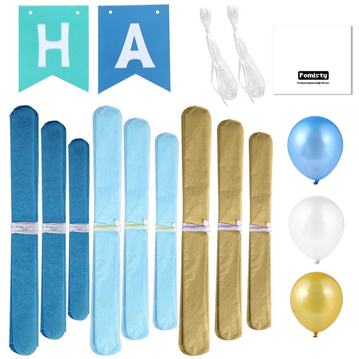 Kindergeburtstag Deko,Geburtstag Dekoration Set,Pomisty Happy ...