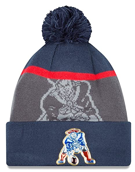 Image Unavailable. Image not available for. Color  New England Patriots  Classic New Era Team Color Gold Collection Cuffed Pom Knit Cap   Beanie 106f0af8c