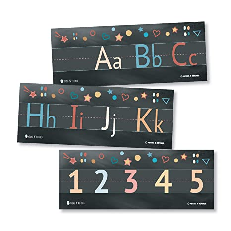 Amazon.com: Alphabet and Numbers Classroom Wall Line for ...