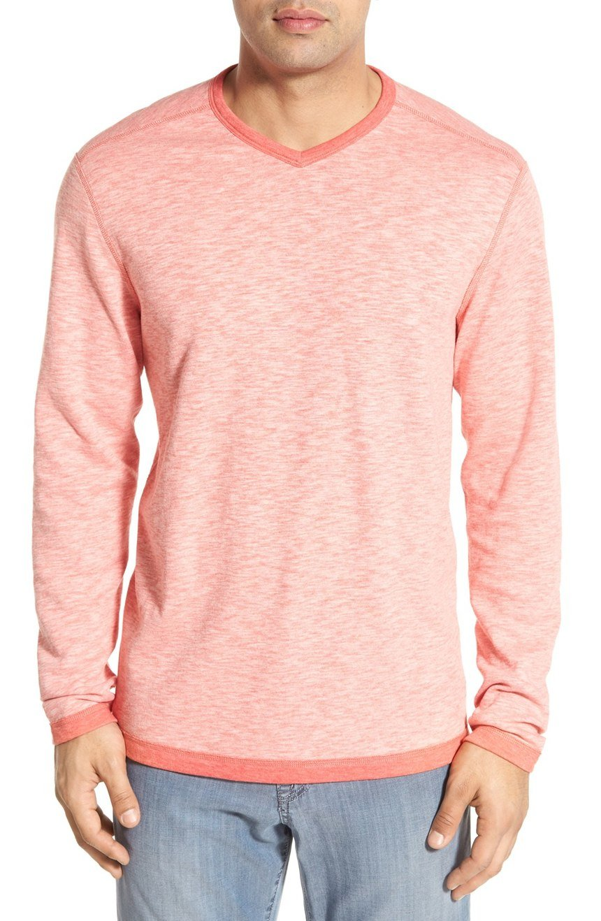 Tommy Bahama Mens Sea Glass Reversible V-Neck Sweatshirt Acapulco L by Tommy Bahama