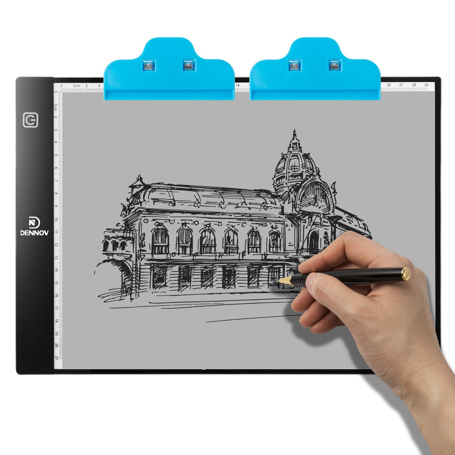 Dennov A4 Portable LED Light Box Tracer Pad Board Tablet for Artists Drawing Sketching Animation Stenciling and X-Ray Viewing