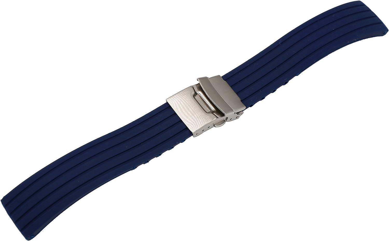 reloj aerodinámica glamour correa de caucho de silicona para reemplazo de la correa de reloj deportivo