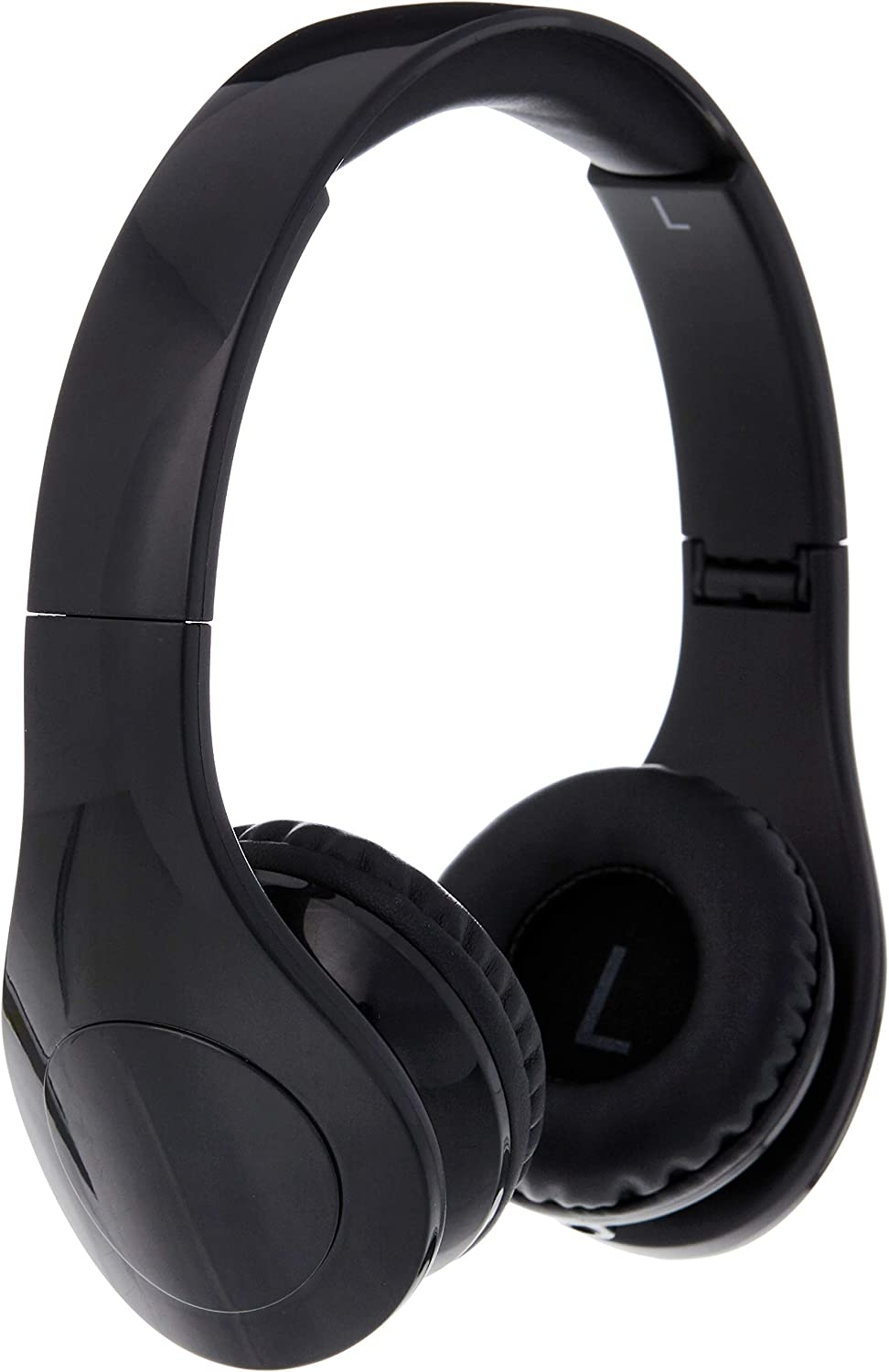 AmazonBasics Volume Limited Wired Over-Ear Headphones for Kids with Two Ports for Sharing, Black