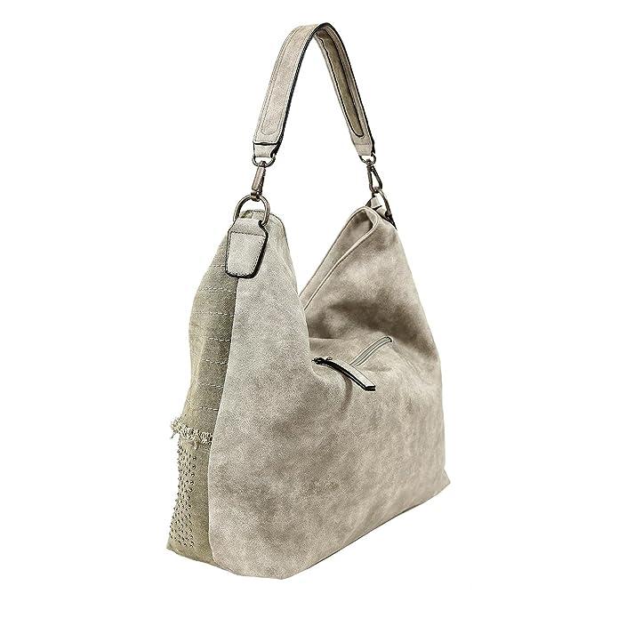 Paula 60513, Handtasche mit Reißverschluss Rot Emily & Noah