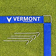 Volleyball Court Line Marking Kit   Creates a Regulation Size 60ft x 30ft Court   Ultra-Durable Polyester Cons
