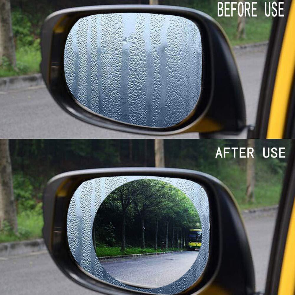 Sandistore Car Rearview Mirror Film,Car Anti Water Mist Film, HD Anti-Fog Nano Coating Rainproof Film. Anti-Glare,Anti-Scratch Screen Protector for Rear View Mirror (2 PCS)